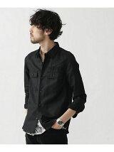 綿麻ミリタリーシャツ