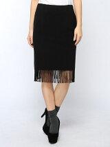ウールフリンジタイトスカート