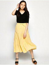 COTTON EYELET SKIRT