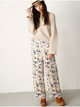FLOWER SATIN PANTS