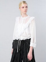 EMBROIDERED STRIPE CHIFFON