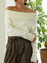 Offshoulder Rib Knit