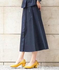 【SALE/50%OFF】a.v.v ミディーフレアトレンチスカート[WEB限定サイズ] アー・ヴェ・ヴェ スカート スカートその他 ネイビー ベージュ