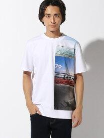 Calvin Klein Jeans 【カルバン クライン ジーンズ】フロント プリント Tシャツ カルバン・クライン カットソー Tシャツ ホワイト【送料無料】