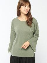 (W)ピーチスキンベルスリーブTシャツ・カットソー(日本限定)
