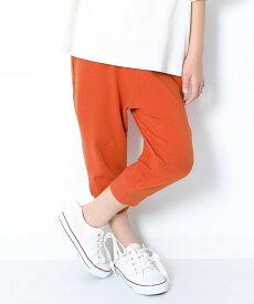 devirock 7分丈裾リブパンツ デビロック パンツ/ジーンズ キッズパンツ オレンジ カーキ ブラウン パープル グレー レッド