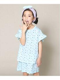 devirock ガールズルームウェア 女の子 パジャマ デビロックストア 子供服 キッズ デビロック インナー/ナイトウェア ルームウェア/その他 ブルー パープル