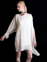 ASYMMETRY DRAPE SHIRT LONG