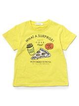 ピザコーヒープリントTシャツ