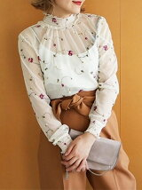 Flower Sheer Blouse