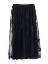 刺繍チュールスカート