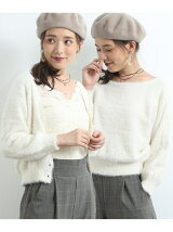 【2WAY】フェザーニットトップスカーディガン