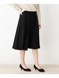 【SALE/23%OFF】grove 【WEB限定サイズあり】ポンチタックフレアスカート グローブ スカート スカートその他 ブラック グリーン ベージュ ブルー