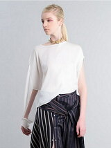 ASYMMETRY DRAPE SHIRT SHORT