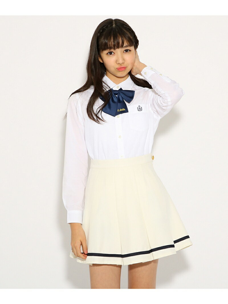 【SALE/51%OFF】PINK-latte 【卒服】リボンタイ付 セーラー スカート ピンク ラテ スカート【RBA_S】【RBA_E】
