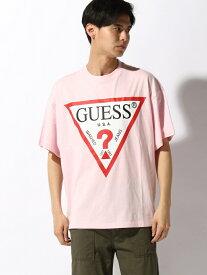 【SALE/48%OFF】WEGO (M)GUESS別注プリントビッグT ウィゴー カットソー Tシャツ ピンク オレンジ ブラック ホワイト