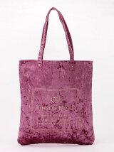 クラッシュベロアロゴ刺繍トートバッグ