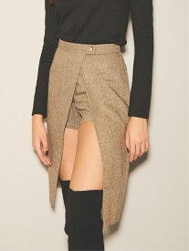 【SALE/30%OFF】EGOIST デザインラップミディSK エゴイスト スカート スカートその他 ブラウン グレー【送料無料】