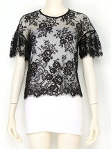 LEAVER LACE FRILL ALEEVE T-SHIRT