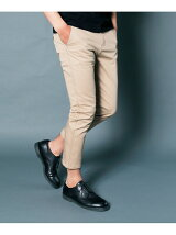 COMPACT CHINO STRETCH CROPPED TAPERED PANTS