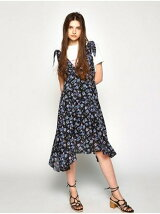 SHOULDER TIE FLOWER DRESS