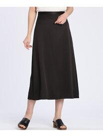 【SALE/70%OFF】7-IDconcept. Aラインロングスカート セブンアイディコンセプト スカート ロングスカート ブラック グレー カーキ【送料無料】