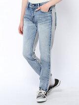 DENIM & SWEAT MIXED PANTS