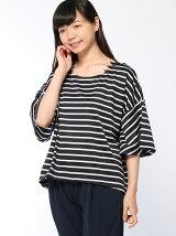 フレア袖レース付きTシャツ(無地/ボーダー)