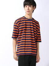 マルチボーダー6分袖Tシャツ