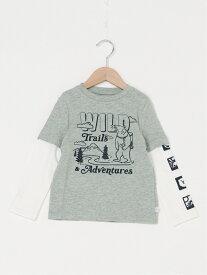 【SALE/24%OFF】GAP (K)2-In-1 グラフィックtシャツ (キッズ) ギャップ カットソー キッズカットソー グレー レッド ホワイト ネイビー
