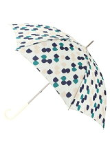 セミサークル柄長傘