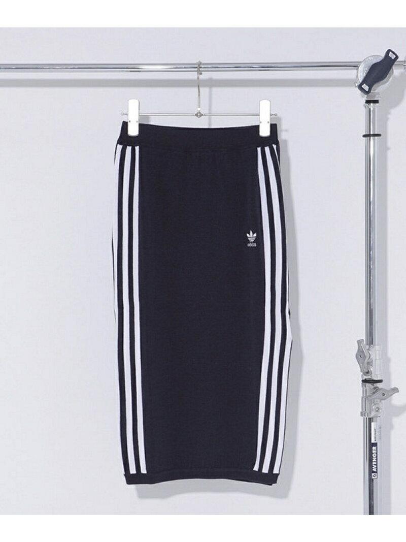 adidas 3 STRIPES KNITTED SKIRT ナノユニバース スカート【送料無料】