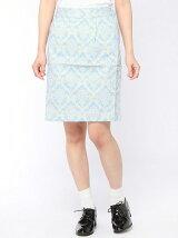 壁柄プリントタイトスカート