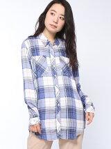 (W)Hilfiger Denim/レーヨン チェックシャツ