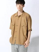 エステルオープンカラーシャツAW