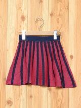 (K)KIDSバイカラーニットスカート