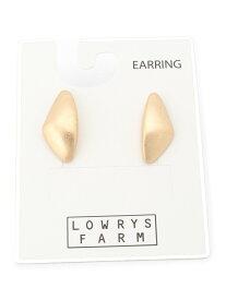 LOWRYS FARM メタルぷっくりデザインイヤリング ローリーズファーム アクセサリー イヤリング ゴールド シルバー