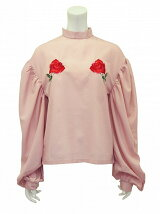 satin rose blouse