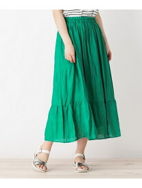 【WEB限定サイズあり】裾切り替えマキシスカート グローブ スカート【送料無料】