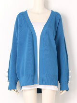 FAUX PEARL KNIT CARDIGAN