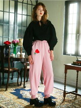 satin rose pants