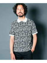 LEAF JACQUARD W-FACE POLO S/S