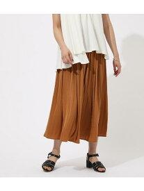 【SALE/50%OFF】AZUL by moussy VINTAGESATINPLEATSSKIRT アズールバイマウジー スカート スカートその他 ベージュ オレンジ ブラック