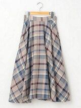 ビッグマドラスチェック柄フレアスカート