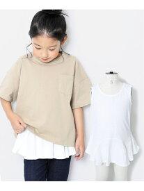 devirock 裾フレアタンクトップ 女の子 トップス タンクトップ デビロックストア 子供服 キッズ デビロック カットソー タンクトップ ホワイト