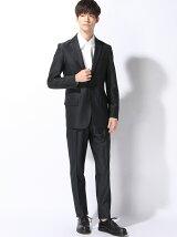 (M)デザインスーツ ネイビー無地