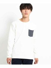 【SALE/30%OFF】BASECONTROL 長袖Tシャツポケット切り替えWEB限定 ベース ステーション カットソー Tシャツ ホワイト ブラック