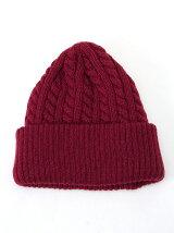 縄編みニット帽