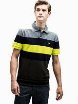 (M)カラーブロックボーダーポロシャツ(半袖)