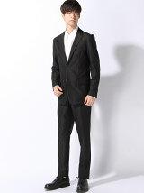 (M)デザインスーツ ブラック無地